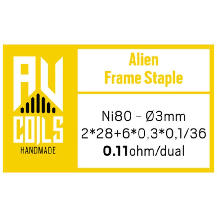 AV Coils - Alien Frame Staple 1